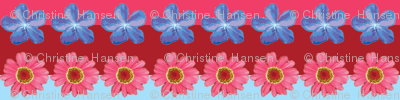 Floral Watercolor Strip