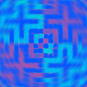 Pillow Spiral Cross - Blue (Checker Graph Collection)
