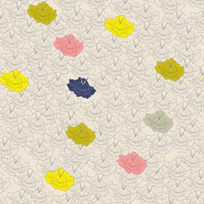Pale Stitch Flowers