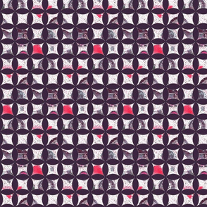 watercolor cathedral window tea time pattern