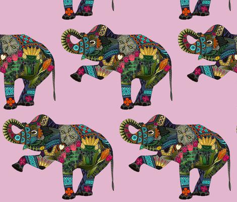 asian elephant pink I fabric by scrummy on Spoonflower - custom fabric