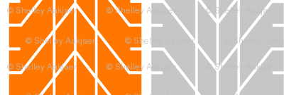 Bike Tread Orange Grey