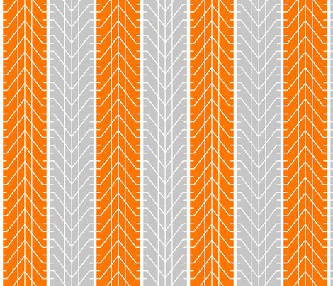 Bike Tread Orange Grey fabric by shelleymade on Spoonflower - custom fabric