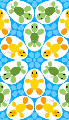 R6 eggs - duckling + turtle