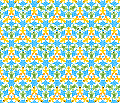 R6 eggs - duckling + turtle fabric by sef on Spoonflower - custom fabric