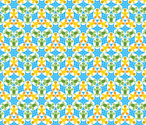 R6 eggs - duckling + turtle fabric by sef on Spoonflower - custom fabric