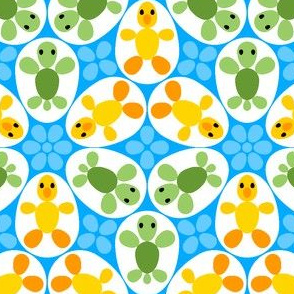 01086438 : © R6 eggs - duckling + turtle