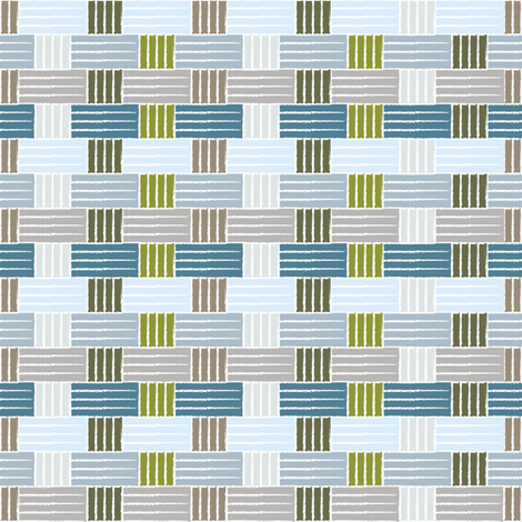 Beachside Weave fabric by creative_merritt on Spoonflower - custom fabric