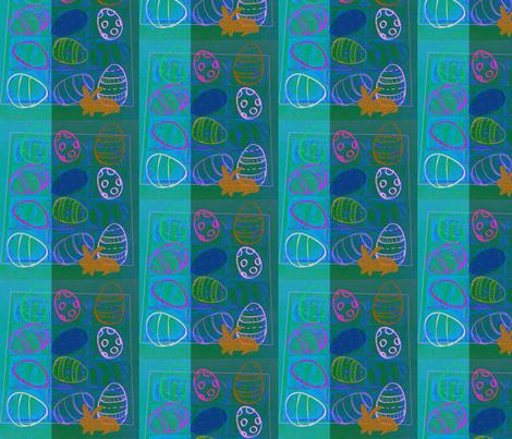 Happy Easter Blue  by evandecraats, march 31, 2012 fabric by _vandecraats on Spoonflower - custom fabric