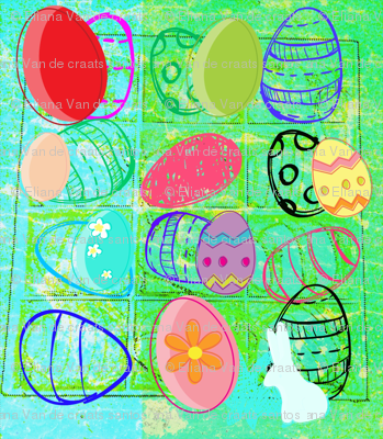 Happy Easter Multicolour  by evandecraats, march 31, 2012