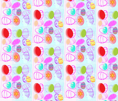 Happy Easter Light  by evandecraats, march 31, 2012 fabric by _vandecraats on Spoonflower - custom fabric