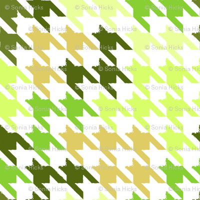 Forest Moss Houndstooth