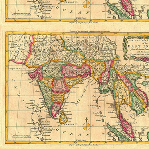 1779 Map of the East Indies by Middleton
