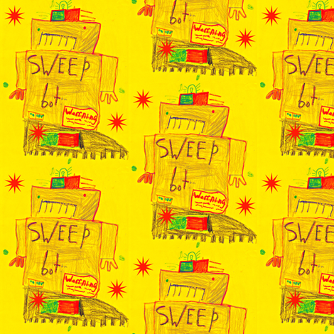 Child's robot fabric by wagoner518 on Spoonflower - custom fabric
