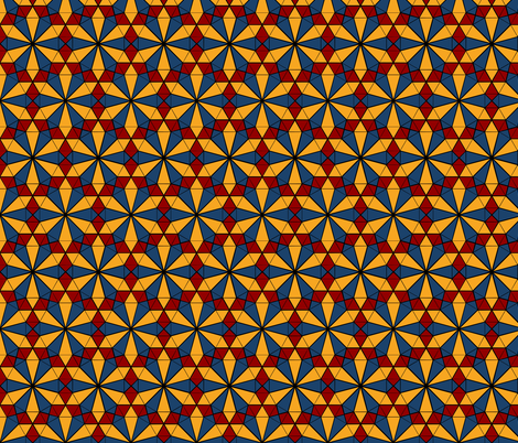 Repeating Colorful Circle Design - Red Yellow and Blue on Black fabric by zephyrus_books on Spoonflower - custom fabric