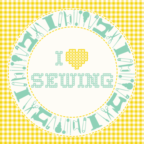 I_HEART_SEWING fabric by natasha_k_ on Spoonflower - custom fabric