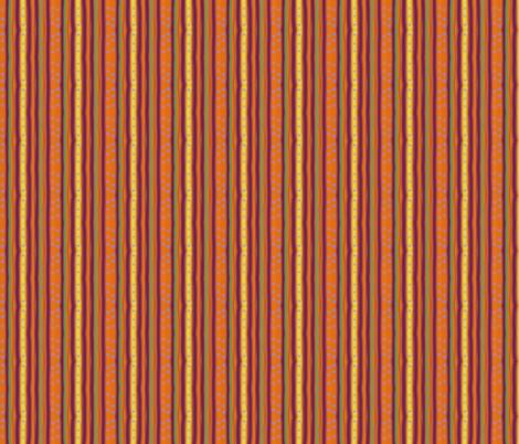 Pumpkin Polka Stripe fabric by leahvanlutz on Spoonflower - custom fabric