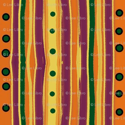 Pumpkin Polka Stripe-variation