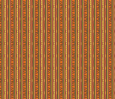 Pumpkin Polka Stripe-variation fabric by leahvanlutz on Spoonflower - custom fabric