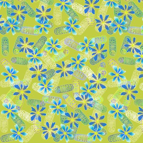 Mighty Mitochondria - Blue fabric by glimmericks on Spoonflower - custom fabric