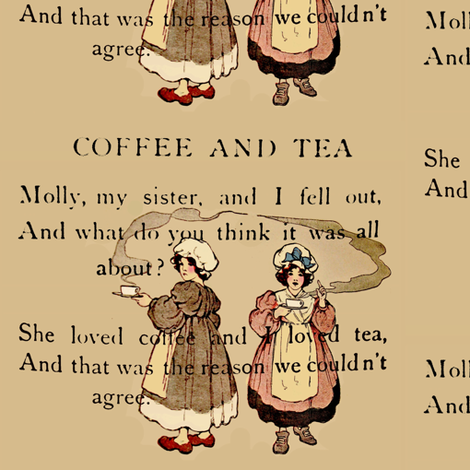 Coffee and tea fabric by paragonstudios on Spoonflower - custom fabric
