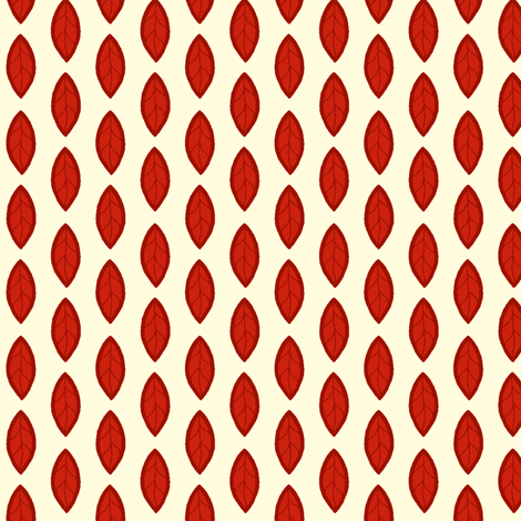Red Leaf fabric by cksstudio80 on Spoonflower - custom fabric