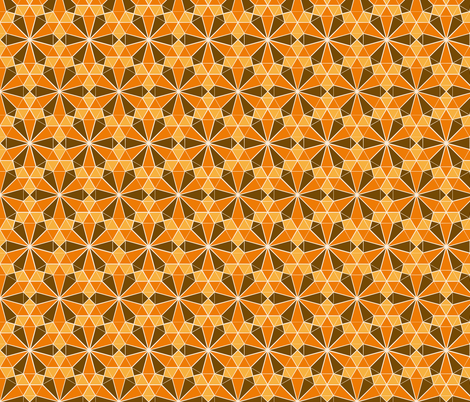 Repeating Colorful Circle Design - Yellow Orange and Brown fabric by zephyrus_books on Spoonflower - custom fabric