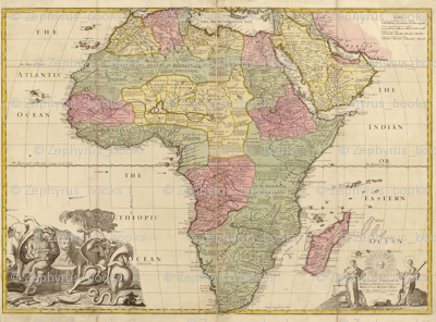 1725 Map of Africa by Senex