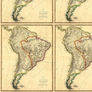 1817 Map of South America by Lewis