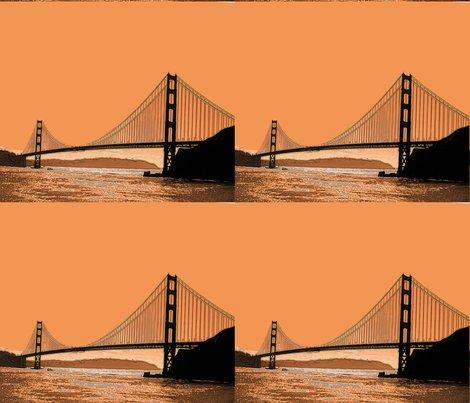 Golden Gate Bridge In Coppers Fabric Waterglider