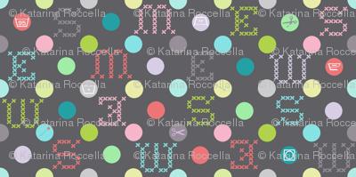sewing celebration dots grey