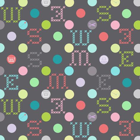 sewing celebration dots grey fabric by katarina on Spoonflower - custom fabric