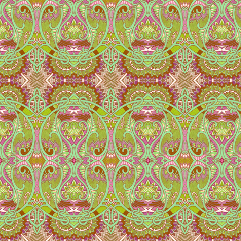 Retro Seventies Psychedelic Paisley fabric by edsel2084 on Spoonflower - custom fabric