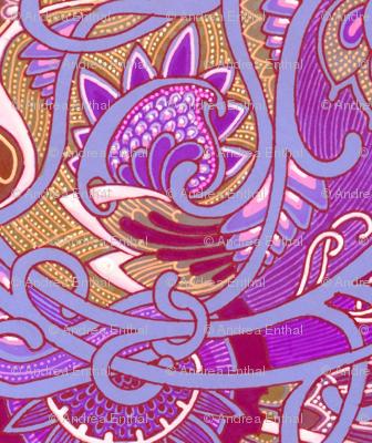 Victorian Purple Paisley