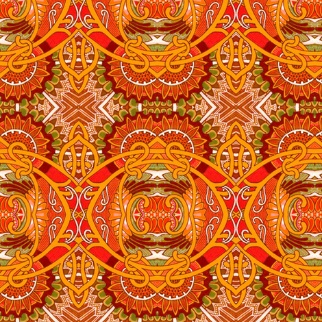 Under the Orange Summer Sun fabric by edsel2084 on Spoonflower - custom fabric