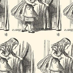 Alice Looking for the Door, illustration by John Tenniel