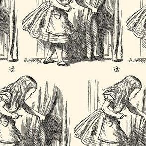 Alice Looking for the Door, illustration by John Tenniel