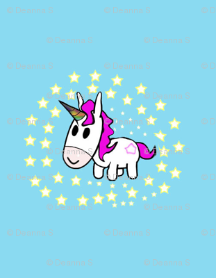 Star Gazing Unicorn