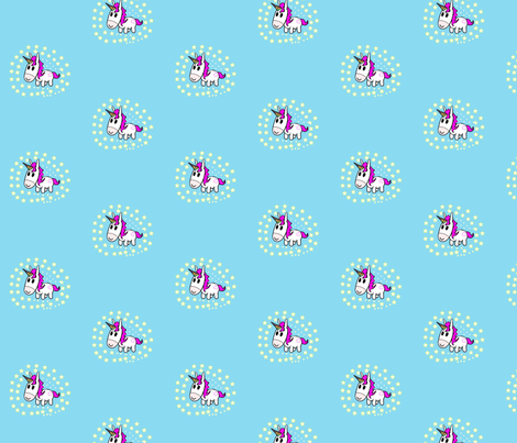 Star Gazing Unicorn fabric by sharpestudiosdesigns on Spoonflower - custom fabric