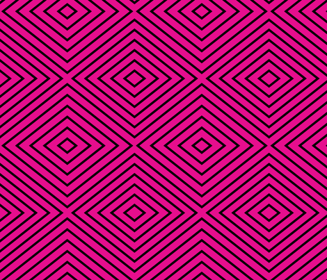 hotpinkblackdiagonal fabric by sharpestudiosdesigns on Spoonflower - custom fabric