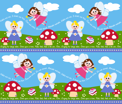 Once Upon a Fairy - Around the World fabric by shelleymade on Spoonflower - custom fabric
