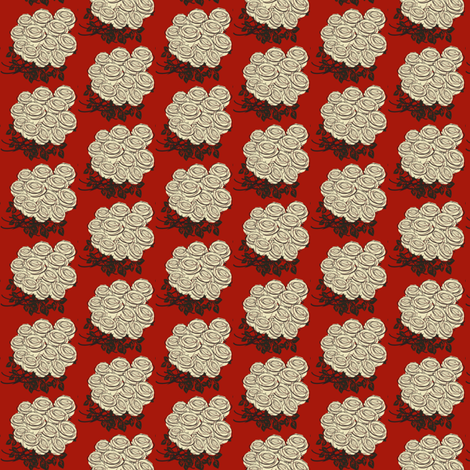 White Roses fabric by tinhearts on Spoonflower - custom fabric