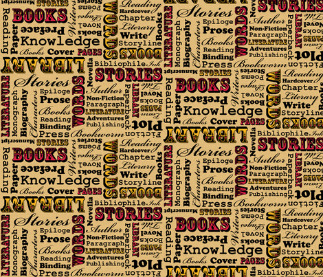 A Book Lover's Medley fabric by robyriker on Spoonflower - custom fabric