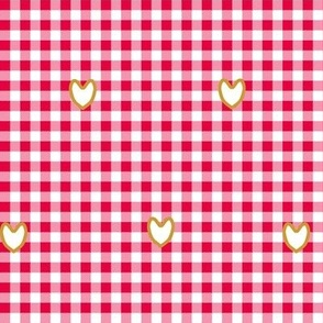 Tea Party Gingham with Hearts