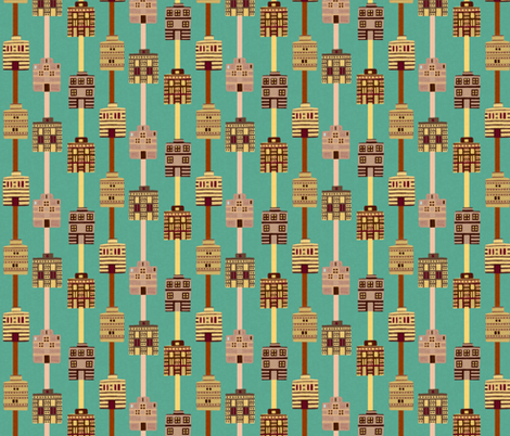 Minoan house stripes on Nile green by Su_G fabric by su_g on Spoonflower - custom fabric