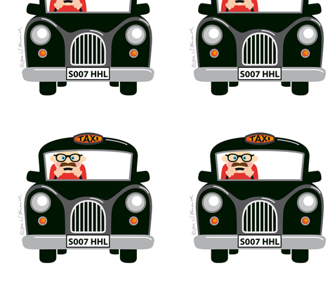 Taxi fabric by hamburgerliebe on Spoonflower - custom fabric