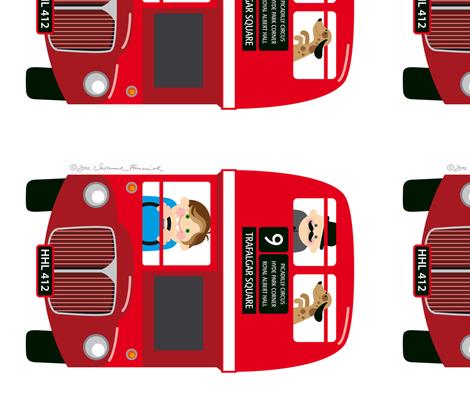 Bus fabric by hamburgerliebe on Spoonflower - custom fabric