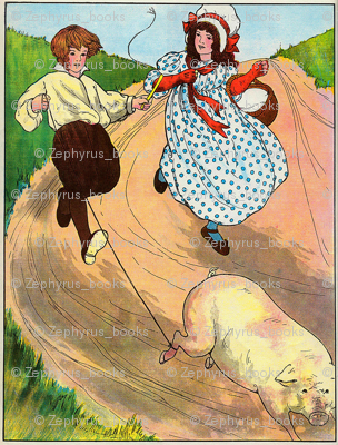 Mother Goose Nursery Rhyme To market, to market, to buy a fat pig