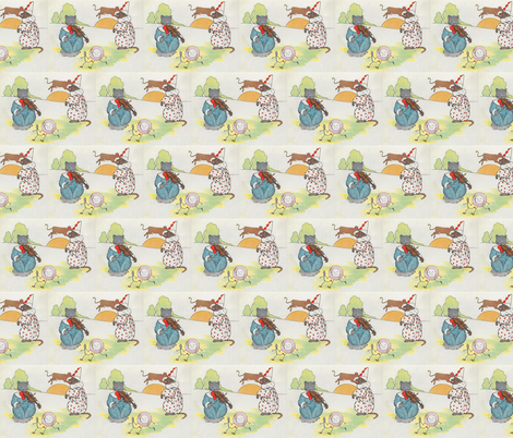 Mother Goose Nursery Rhyme Hey, diddle, diddle! The cat and the fiddle fabric by zephyrus_books on Spoonflower - custom fabric