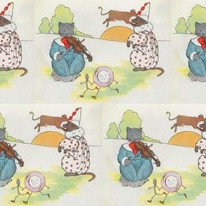 Mother Goose Nursery Rhyme Hey, diddle, diddle! The cat and the fiddle